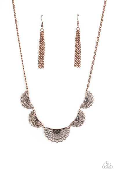 Fanned Out Fashion Copper Necklace