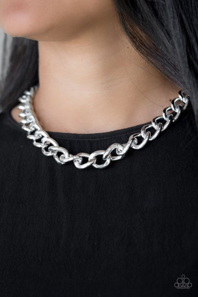 Heavyweight Champion Silver Necklace