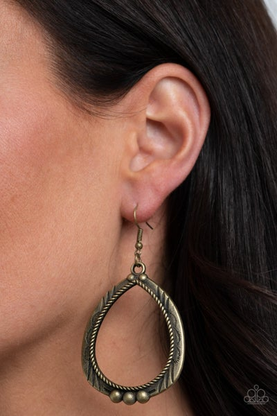 Terra Topography Brass Earrings