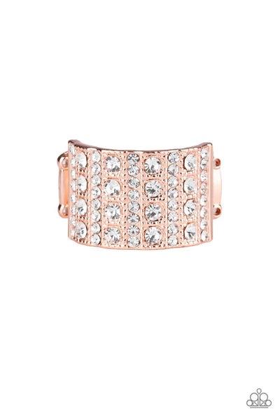 Diamond Drama Copper Ring
