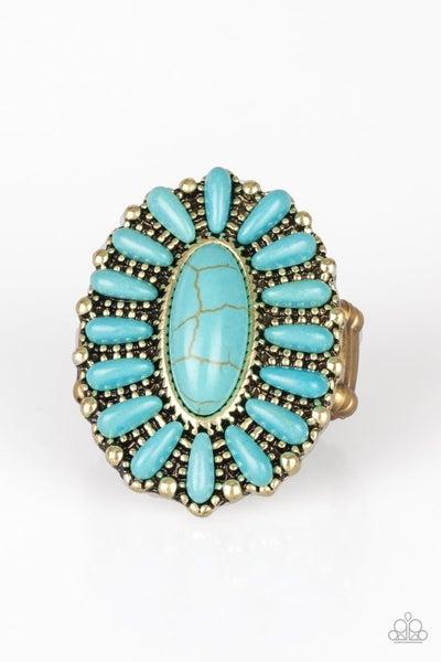 Cactus Cabana Turquoise Brass Ring
