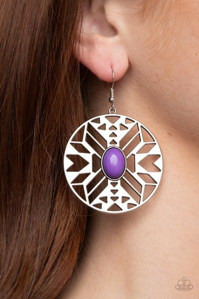Southwest Walkabout Purple Earrings