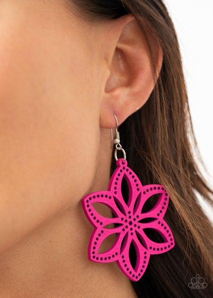 Bahama Blossoms Pink Earrings