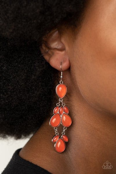 Superstar Social Orange Earrings
