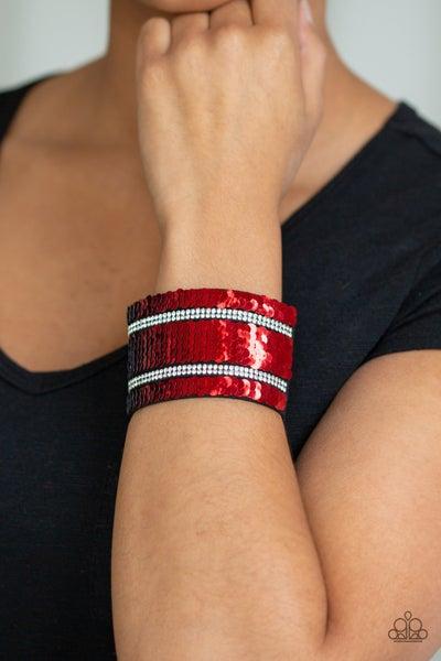 MERMAID Service Red Silver Bracelet
