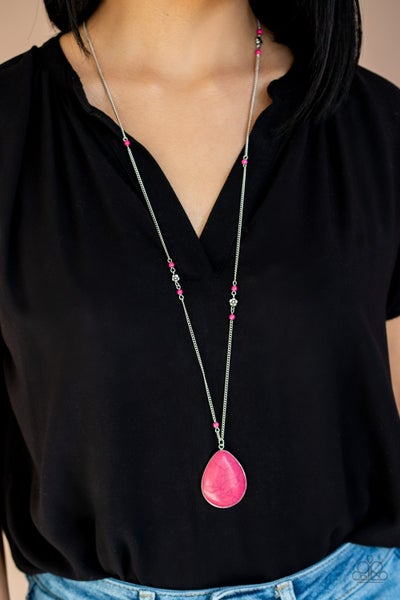 Desert Meadows Pink Necklace