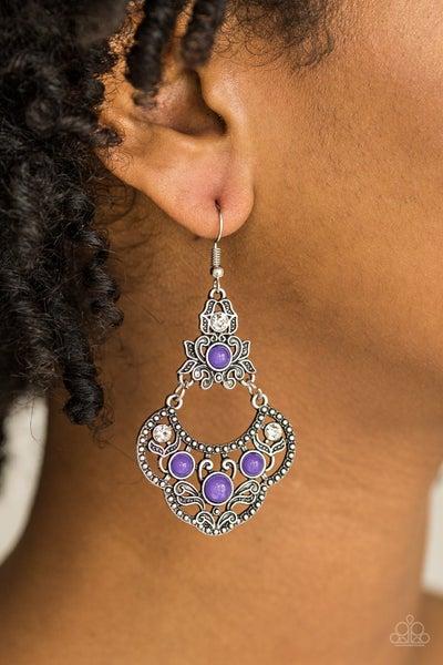 Garden State Glow Purple Earrings