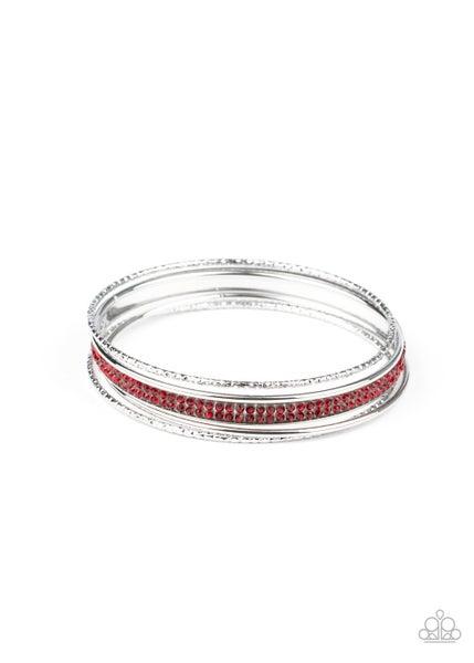 Heap It On Red Bracelet