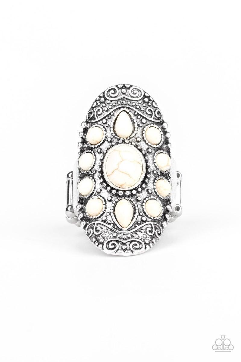 Stone Sunrise White Ring