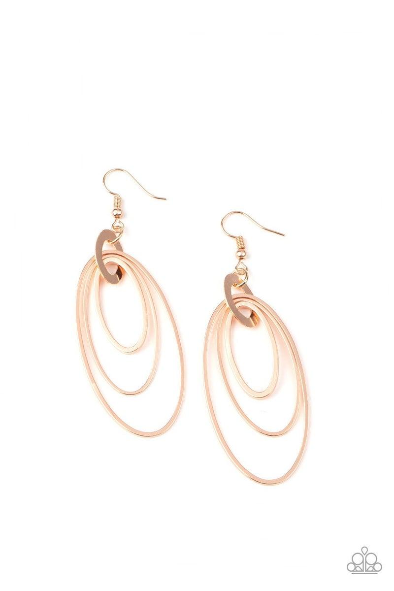Shimmer Surge Rose Gold Earrings