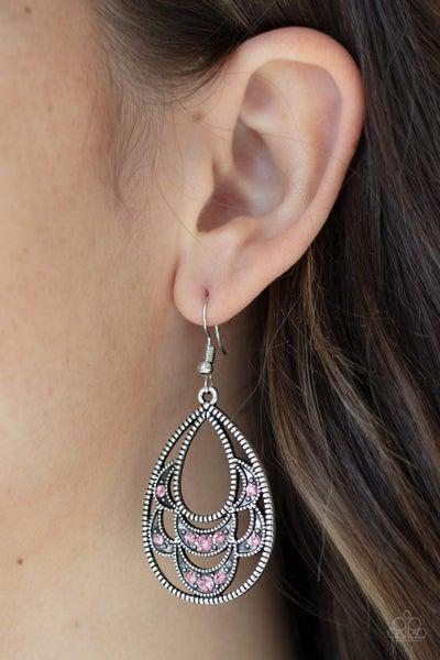 Malibu Macrame Pink Earrings