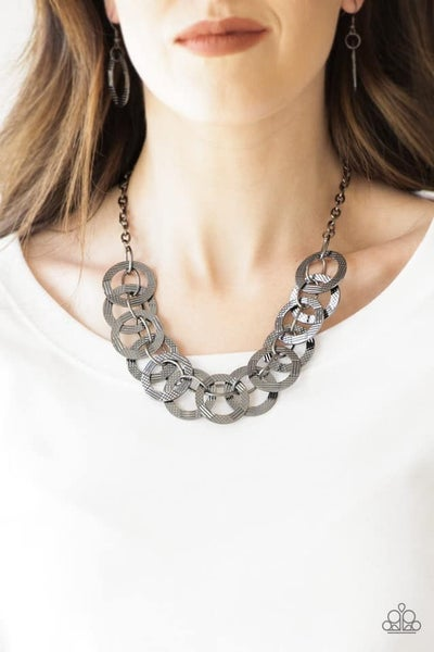 The Main Contender Gunmetal Necklace