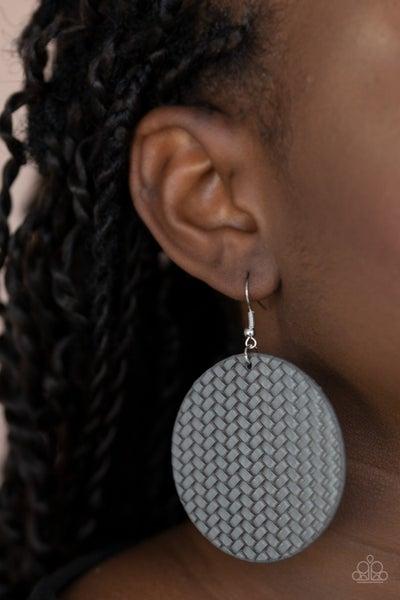 Weave Your Mark Silver Earrings
