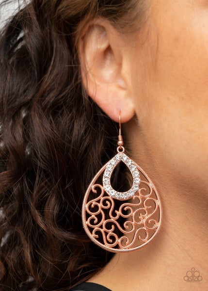 Seize The Stage Copper Earrings