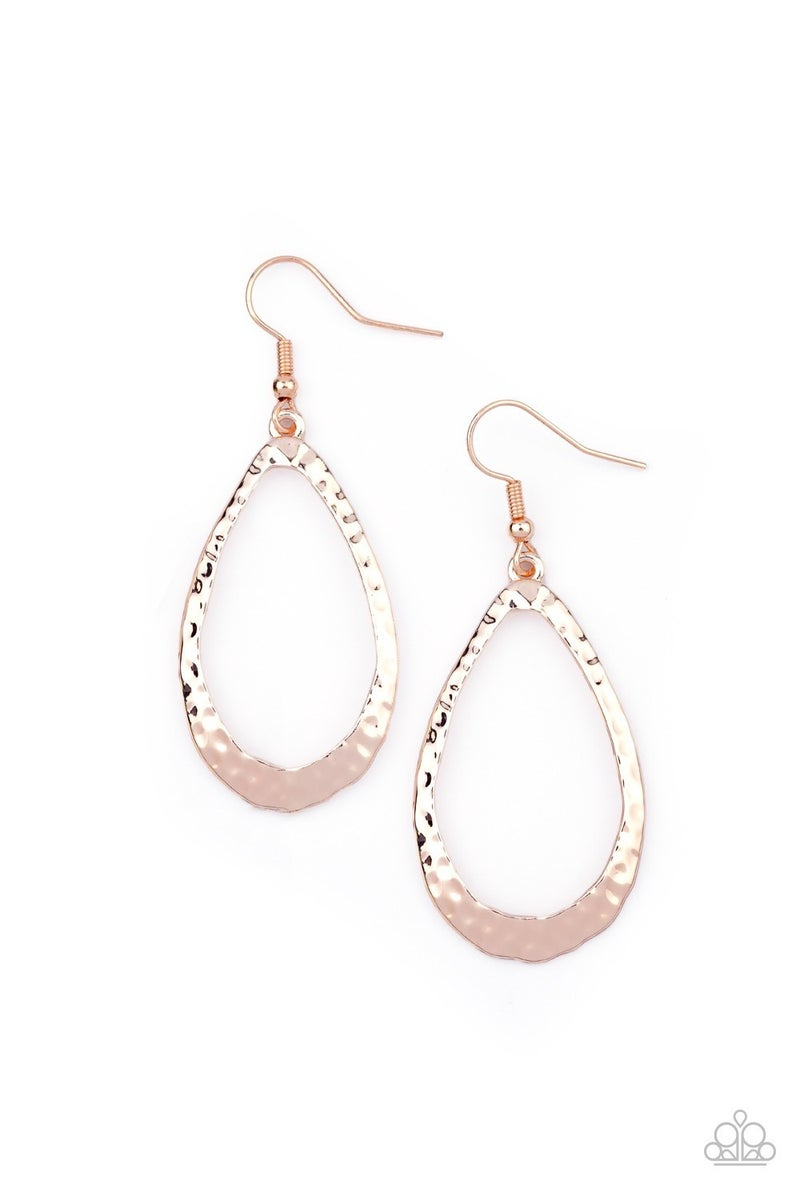 Bevel-Headed Brilliance Rose Gold Earrings