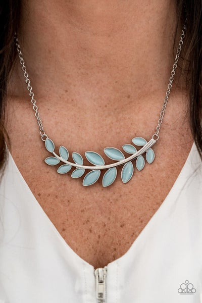 Frosted Foliage Blue Necklace (Summer Exclusive)