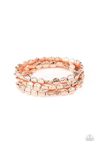 Hammered Heirloom Copper Bracelet