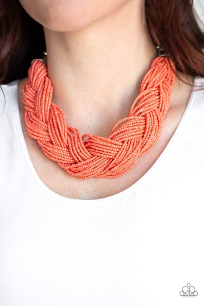 The Great Outback Orange Necklace