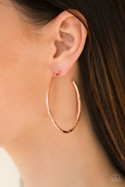 A Double Take Copper Hoops