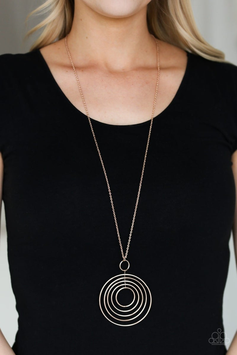 Running Circles In My Mind Rose Gold Necklace