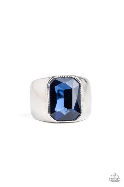 Scholar Blue Mens Ring