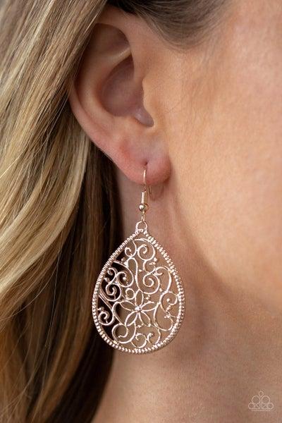I'm Doing Vine Rose Gold Earrings