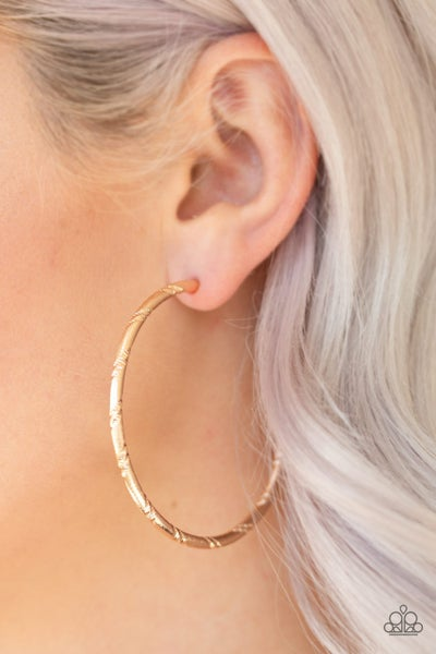 A Double Take Gold Hoops