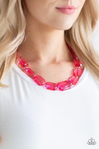 Ice Versa Pink Necklace