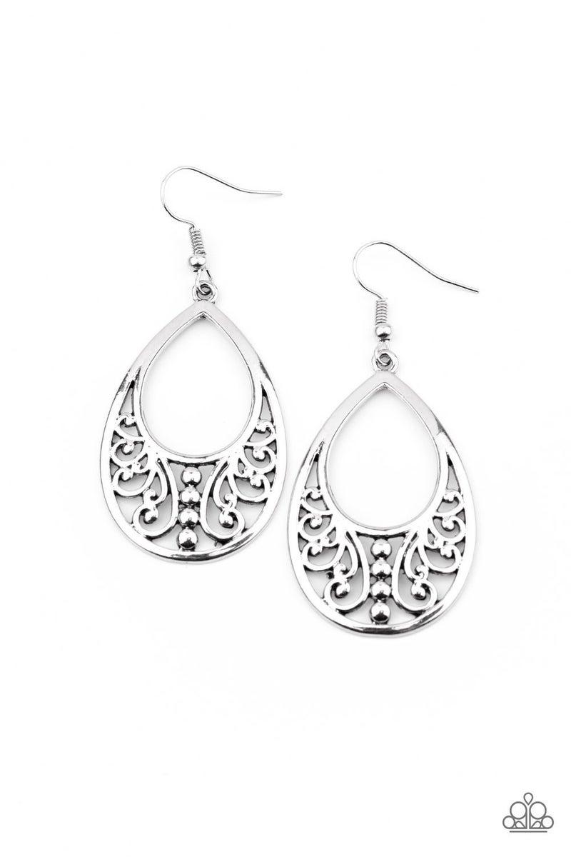 Stylish Serpentine Silver Earrings