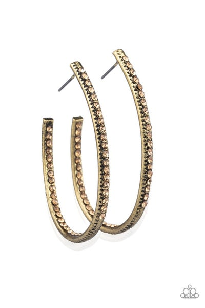 Globetrotting Glitter Brass Hoops