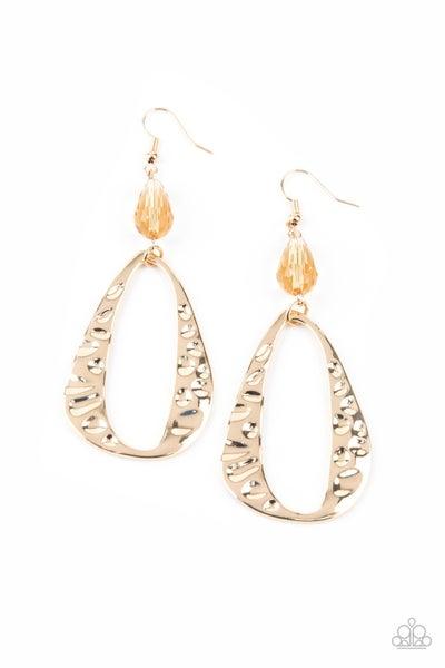 Enhanced Elegance Gold Earrings