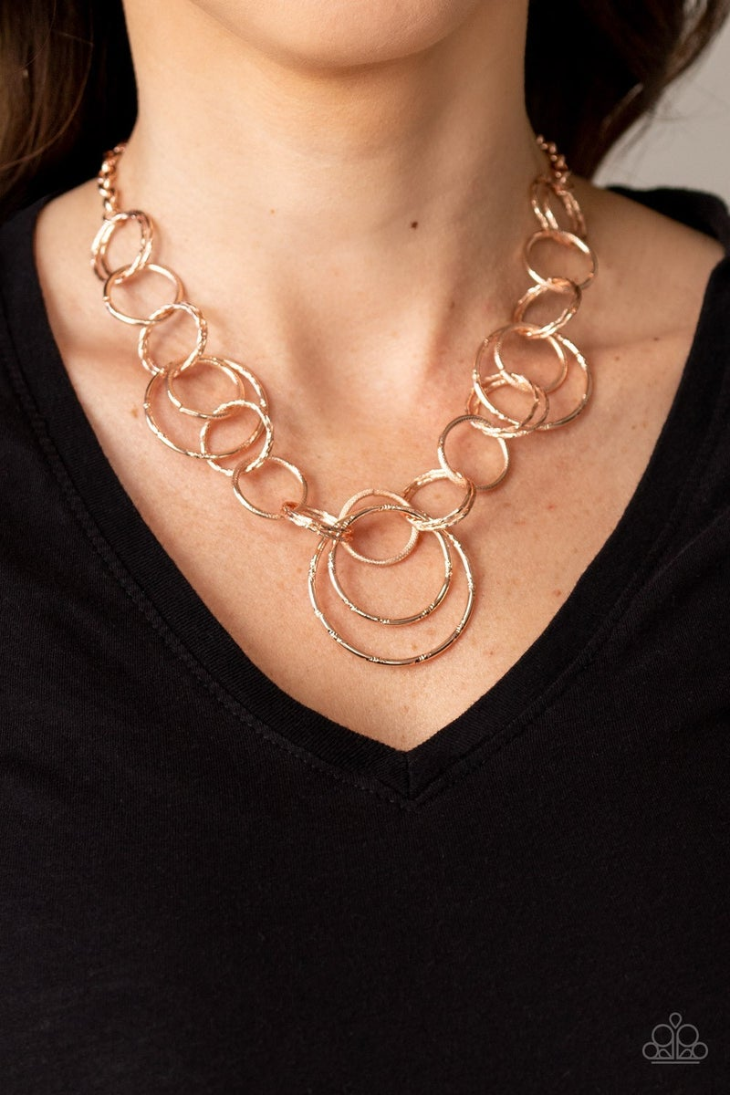 Ringing Relic Rose Gold Necklace