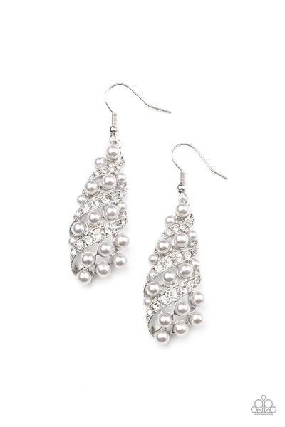 Ballroom Waltz Silver Earrings