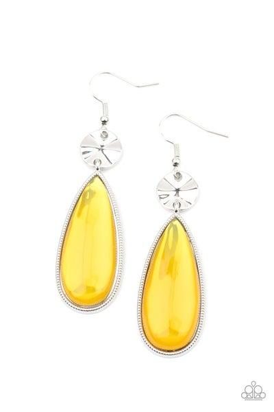 Jaw Dropping Drama Yellow Earrings