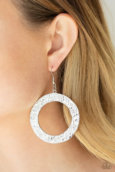 Primal Meridian Silver Earrings