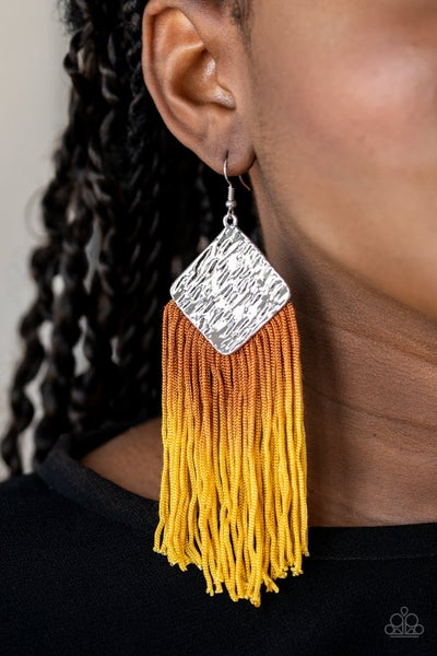 Dip The Scales Yellow Earrings