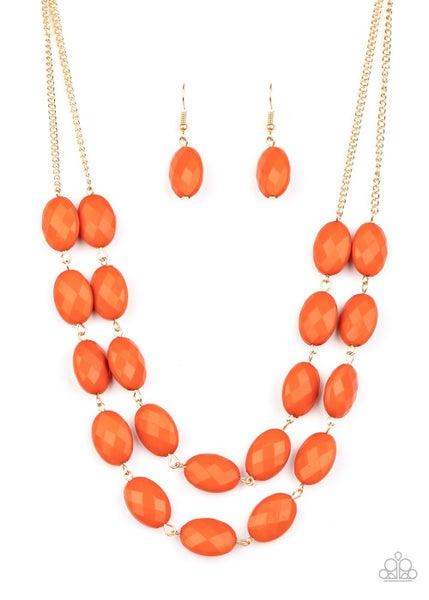 Max Volume Orange Gold Necklace