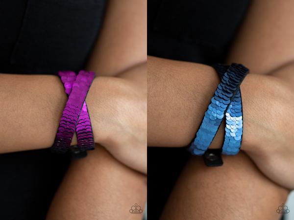 Under The Sequins Purple Bracelet