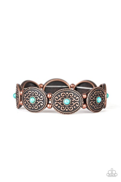 West Wishes Turquoise Copper Bracelet
