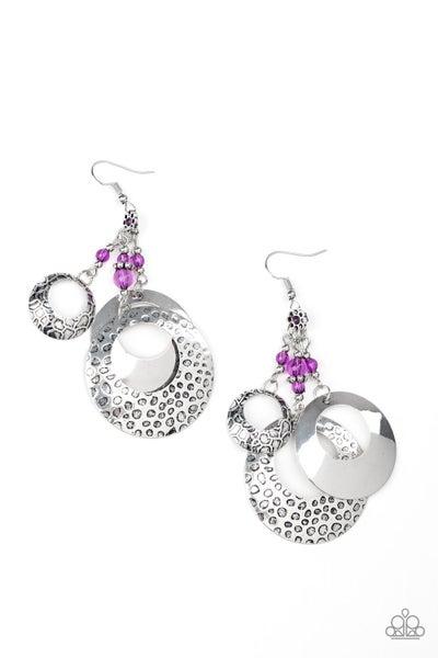 Wanderlust Garden Purple Earrings