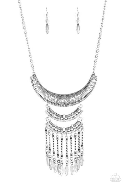 Eastern Empress Silver Necklace