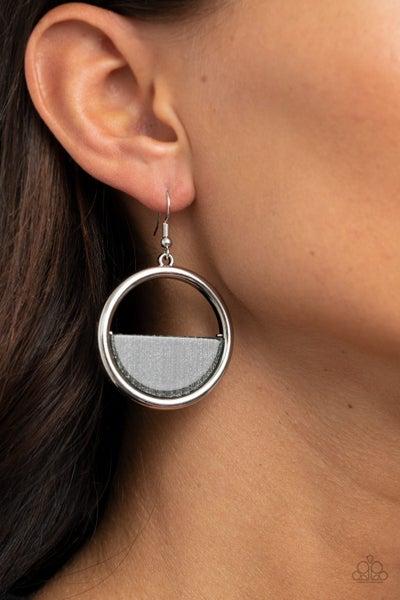 Stuck In Retrograde Silver Earrings