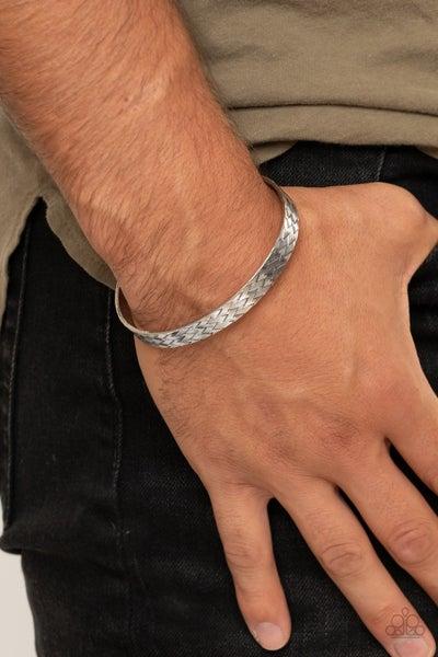 Mind Games Silver Mens Bracelet