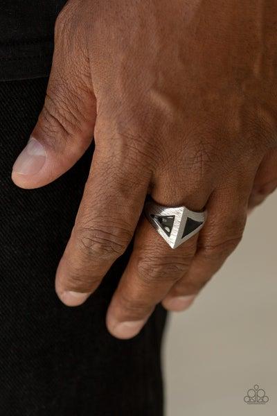 Crusader Black Mens Ring