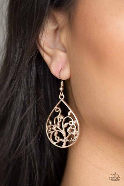 Enchanted Vines Rose Gold Earring