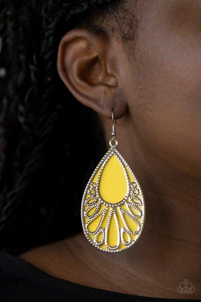 Loud and Proud Yellow Earrings