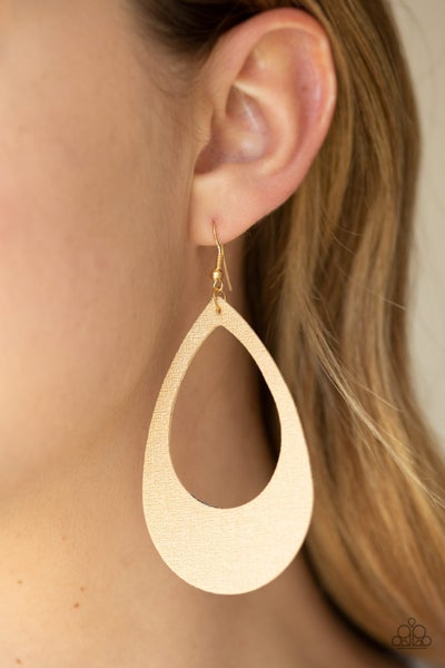 What A Natural Gold Earrings