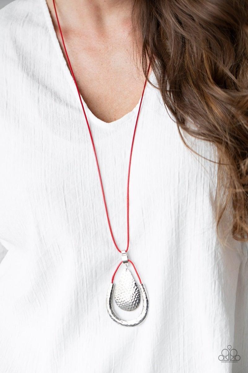 Texture Trekker Red Necklace