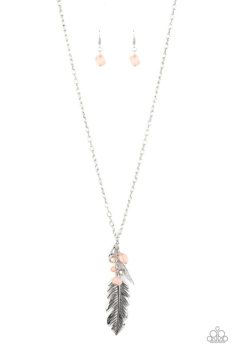 Feather Flair Pink Necklace