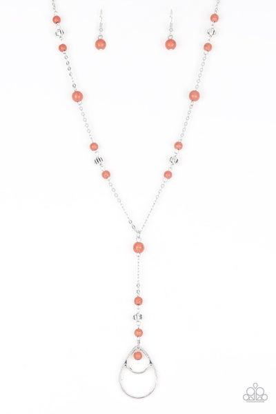 Sandstone Savannahs Orange Necklace